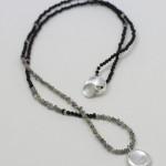 Halssmycke med silverdroppe och diamantcollier, Maki Okamoto