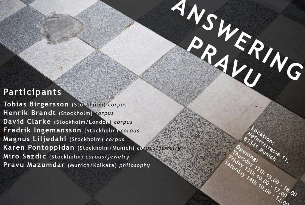 Answering Pravu, sju konstnärer/silversmeder visar korpus i München.