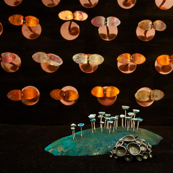 Skulptur, koppar, av Pernilla Sylwan