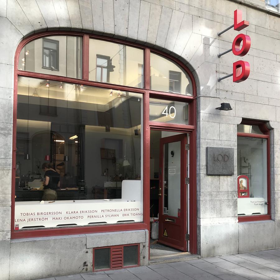 LOD Metallformgivning, butik/galleri och verkstad på Kungsholmen.