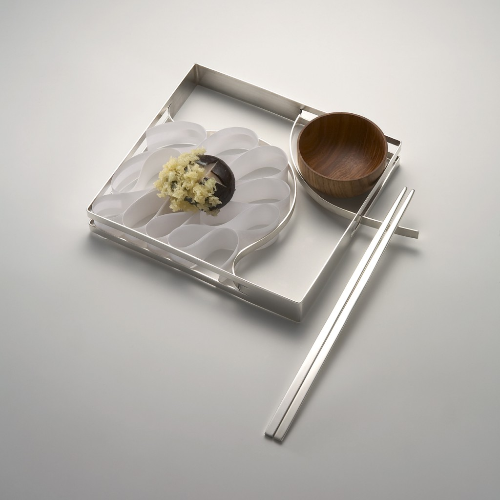 Hyo Jung Lim tempura plate silver