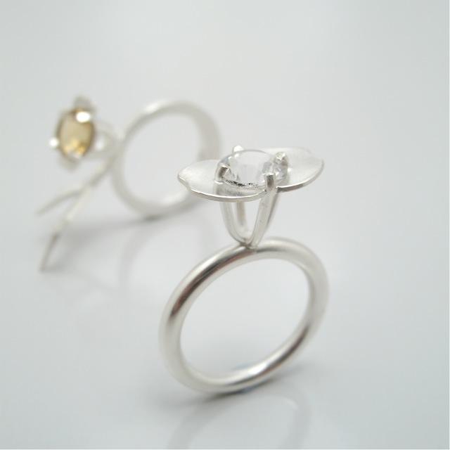 Ringar av Petronella eriksson, silver citrin bergkristall